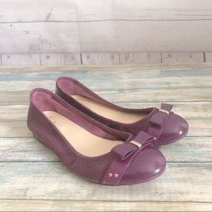 Cole Haan Nike Air Purple Bow Ballet Flat Sz 7.5